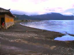 Mosuo home on lakeshore