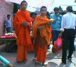 Monks in Market