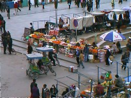 Fruit Stalls Lhasa