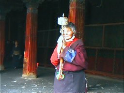 Prayer wheel Jokhang