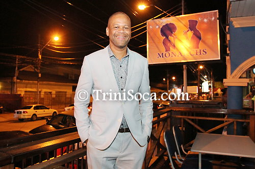 Duane O'Connor stands in front his newly opened establishment, Monarchs
