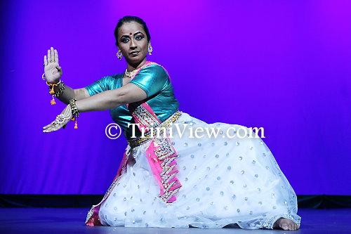 Deboleena Paul from India during her dance performance