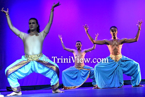 Dancers during their performance on stage