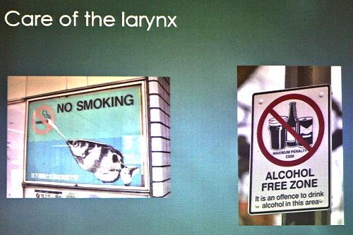 Care of the larynx