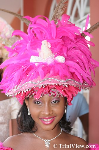 Zaria Pinder in her Easter Bonnet attire