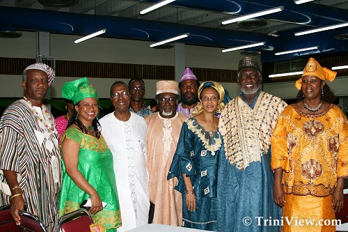 Members and suppporters of the Caribbean Historical Society with featured speaker Remigius Kintu