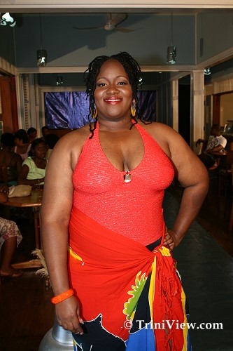 Model at the Macafouchette Size 12 and Over Fashion Show