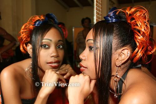 Model displays her hair craft
