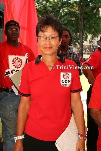 C.O.P. deputy leader Wendy Lee Yuen