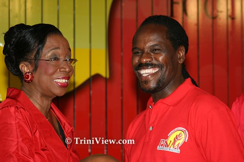 Minister Joan Yuille Williams and Fitzgerald Hinds