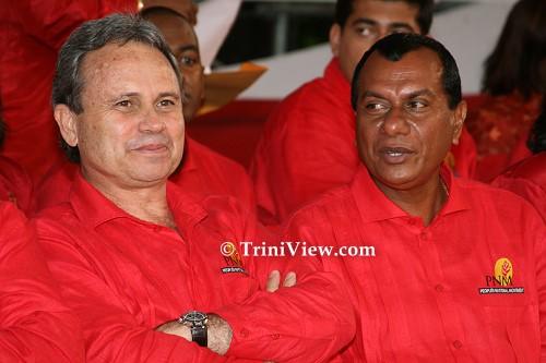 PNM Candidates Colm Imbert and Heeralal Rampertap