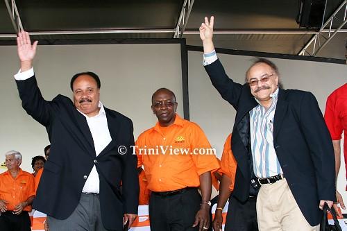 Martin Luther King III, Jack Warner and the head of the Mahatma Gandhi Foundation Subash Razdan