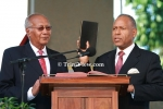 Swearing-In of Prime Minister Patrick Manning in pictures