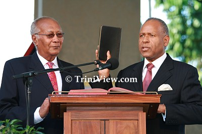 Swearing-In of Prime Minister Patrick Manning