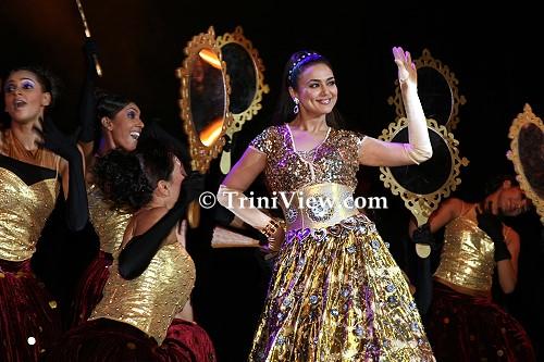 Preity Zinta performs to Bollywood movie hits