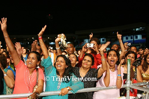 Enthusiastic crowd