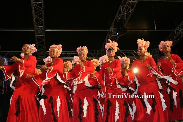 The local choir 'Jeunes Agape'
