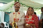 Hindu Wedding in Plum Mitan