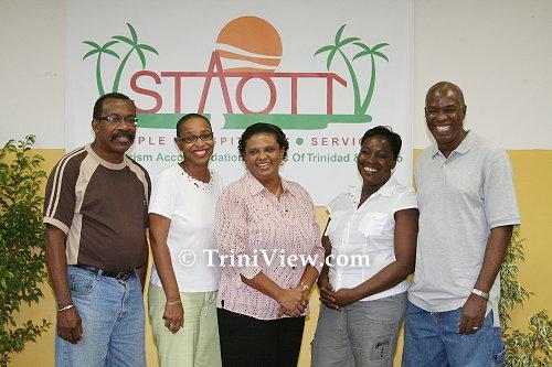 LEFT: Public Relations and Marketing - Anthony Mayers; Secretary - Liesel Lashley; President - Denise Aleong-Thomas; Treasurer - Anne Austin and; Vice President - Owen Sylvester