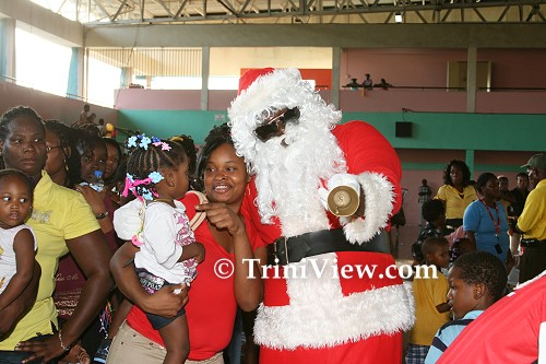 Santa Claus with the children