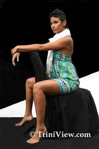 Model strikes a pose