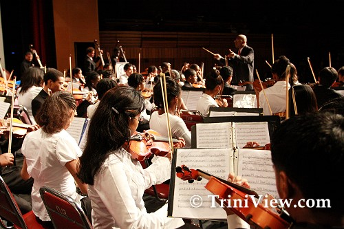Members of the TTYP Advanced Orchestra, featuring musicians from Venezuela's FESNOJIV