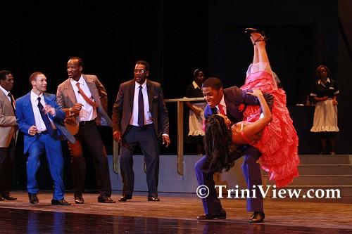 'Tan Tan' and 'Saga Boy' dance in a scene from 'Dance Me, Lover'