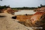 Collapsed Landmass at Sand Quarry Site, Todd's Road, Caparo