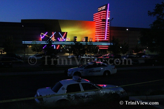 Century 16 movie theatre where a gunman attacked movie goers during the premier of The Dark Knight Rises