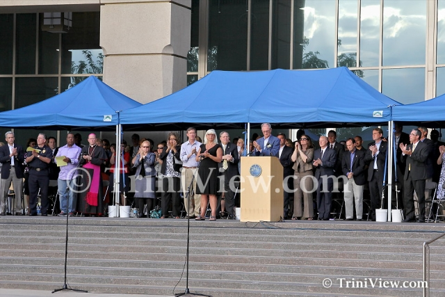 Officials at the prayer vigil dedicated to the victims of the Theatre shooting