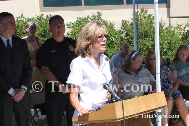 Aurora Fire Chief Mike Garcia and Victims Services' Supervisor, Carole O'Shea