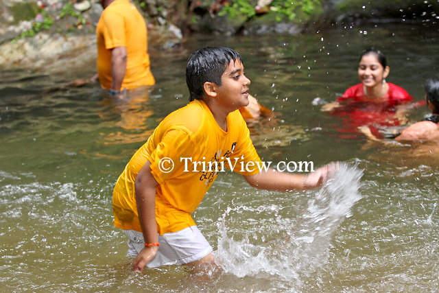 Children frolicking in the water