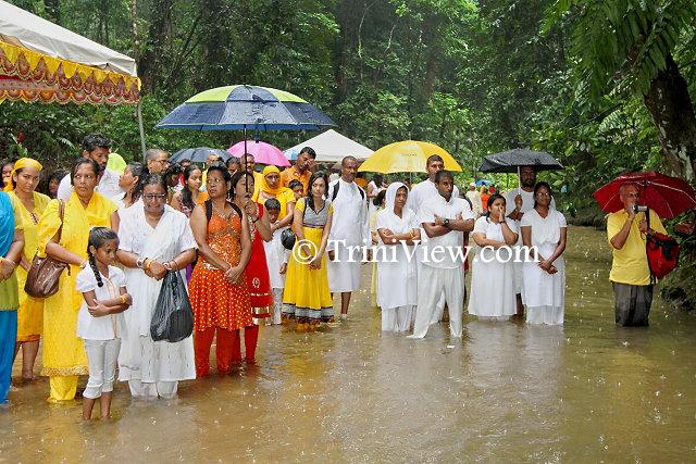 A cross-section of attendees at Ganga Dhaaraa teerath