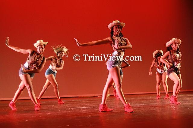 Members of Eh Beh Oui Don Don perform Sharifa Hodge's choreography 'Farm Girls'