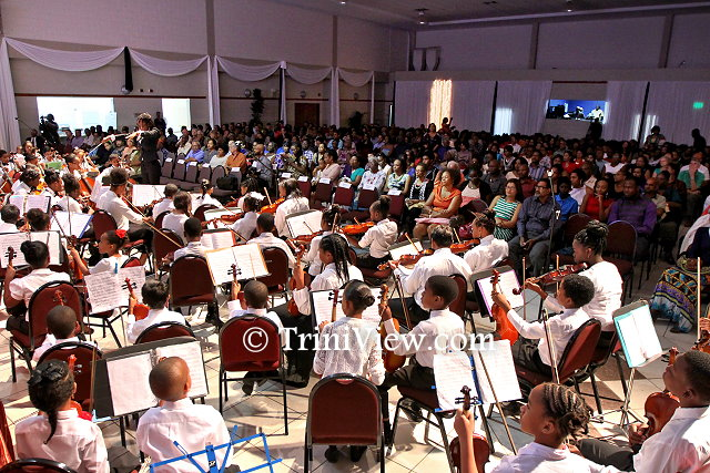 The Trinidad and Tobago Youth Philharmonic led by conductor, Ms. Keisha Daniel