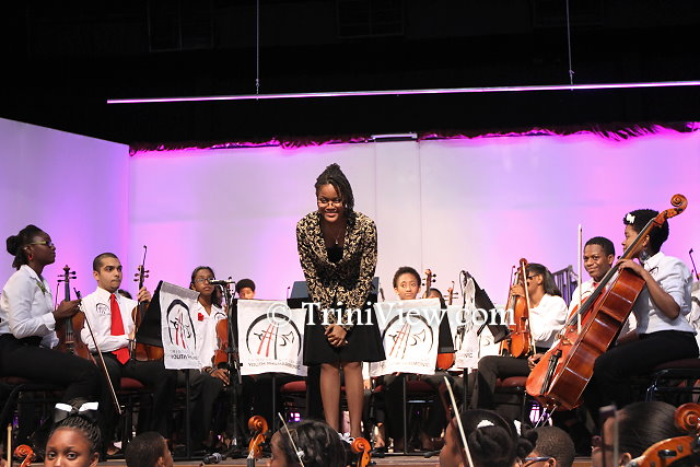 The TTYP Advanced Orchestra, conducted by principal cellist and Assistant Music Director Tracell Frederick