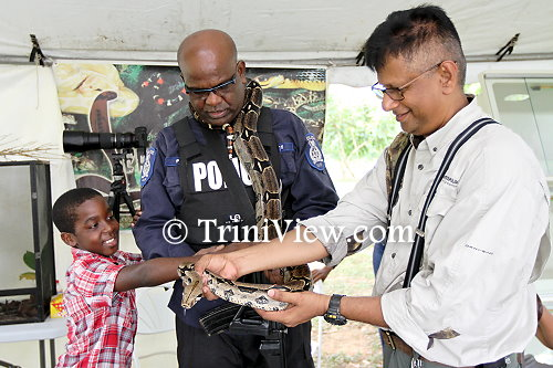 (R): Saiyaad Ali, manager of Serpentarium TT shows off one of his snakes