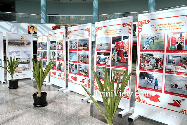 Cross-section of the photographic exhibition displayed at the atrium of the Piarco International Airport
