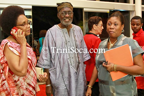 Mrs. Liselli Daaga,  His Excellency, Makandal Daaga and Mrs. Stephanie Charles