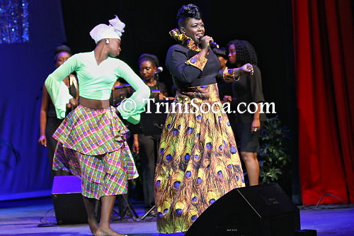 Makeda Darius performs 'Start Now' at the NWAC Calypso Queen Competition
