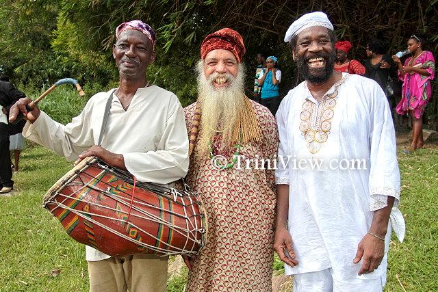 Elders of the Orisha tradition present at Junior Noel's send-off