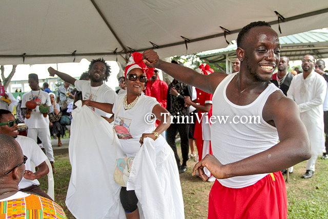 Dancing in celebration of the life of Junior Noel