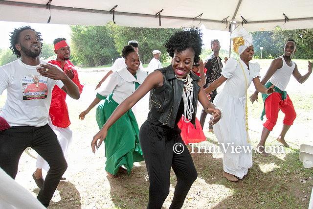 Some of Junior Noel's protege's dance in his honour