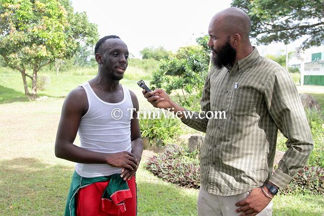 Seon Nurse being interviewed by TriniView.com reporter