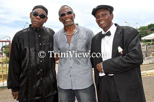 (L): Winston 'De Original DeFosto Himself' Scarborough, Daniel 'Trinidad Rio' Brown and Leydon 'Organiser' Charles