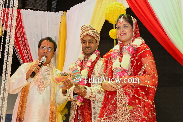 A re-enactment of a traditional Hindu wedding by members of the Heritage Radio team, Crystal Kissoon-Sinanan and her (real) husband, Rishi Sinanan and Pundit Chrisendath Ramdhanie Sharma