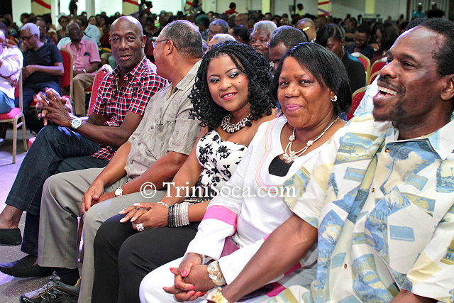 Dignitaries present at the event including Prime Minister Dr. Keith Rowley, Minister of Works and Transport Fitzgerald Hinds, Minister of Community Development Nyan Gadsby Dolly, and other guests