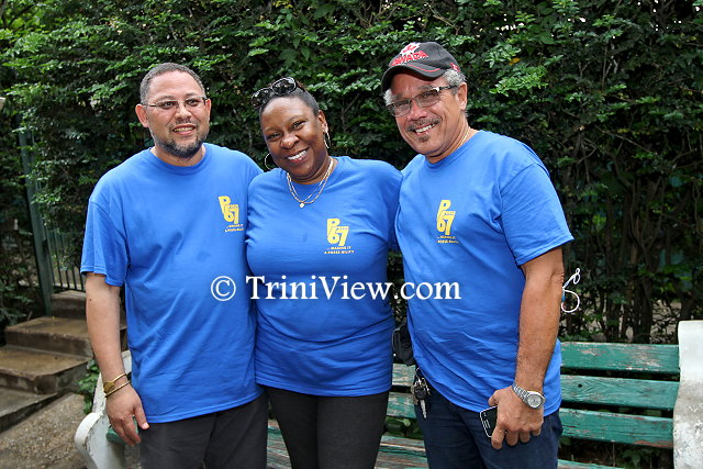 Roland Hopley, founder of Posse 67; Beverly Gilalta, executive member and Richard Critchlow, a director at the Tobago based Yahweh Foundation and also a member of Posse 67