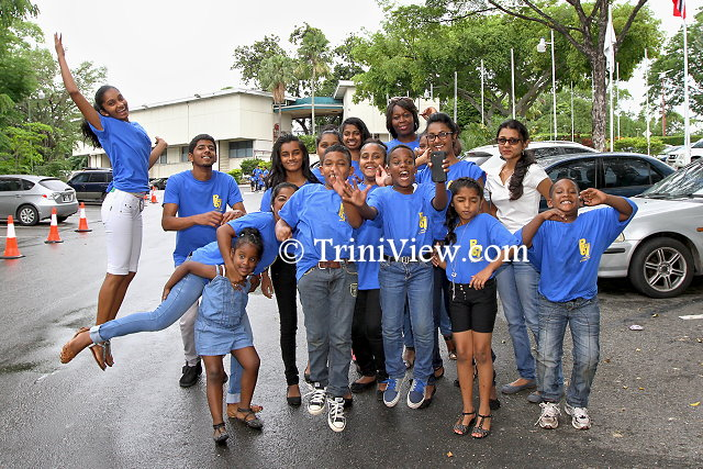 A group shot in the Hilton Hotel car park, Lady Young Road, Port of Spain
