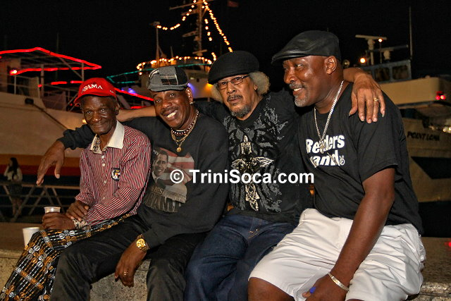 Calypsonians, Edwin 'Stockings' Brown, William 'Dr. Wilby' Bannister, Curtis 'Dirty Curty' Conyette and Phillip 'Black Sage' Murray